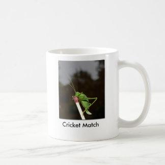 Cricket Match Basic White Mug