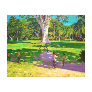 Cricket match Botanical Gardens Dominica Canvas Print