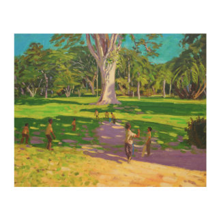 Cricket match Botanical Gardens Dominica Wood Prints