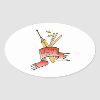 Cricket Match Oval Stickers