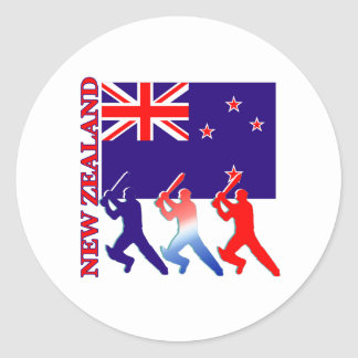 Cricket New Zealand Classic Round Sticker