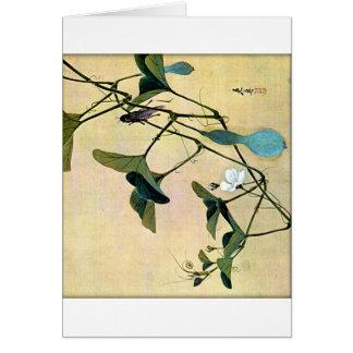 Cricket on a Vine Japanese Woodblock Art Ukiyo-E Card