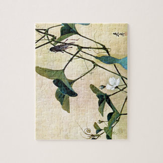 Cricket on a Vine Japanese Woodblock Art Ukiyo-E Jigsaw Puzzle