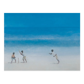 Cricket on the beach 2012 postcard