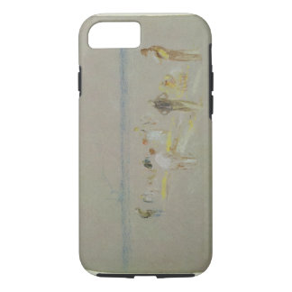 Cricket on the Goodwin Sands (chalk, w/c & bodycol iPhone 8/7 Case