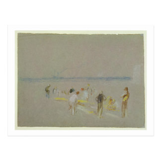 Cricket on the Goodwin Sands (chalk, w/c & bodycol Postcard