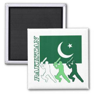 Cricket Pakistan Square Magnet