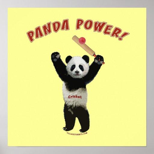 Cricket Panda Power Poster