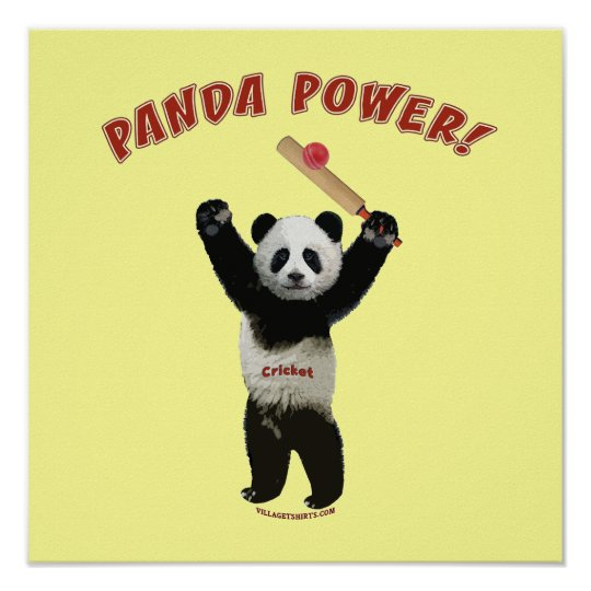 Cricket Panda Power Poster