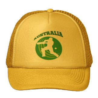 cricket player batsman Australia retro Mesh Hats