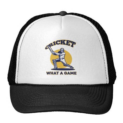 cricket player batsman bat retro mesh hat