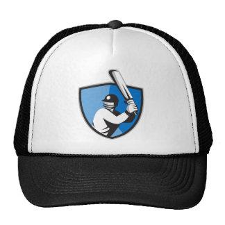 cricket player batsman bat shield retro cap