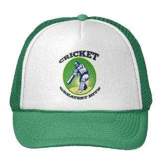 cricket player batsman bat shield retro trucker hats