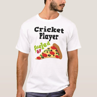 Cricket Player (Funny) Pizza T Shirt
