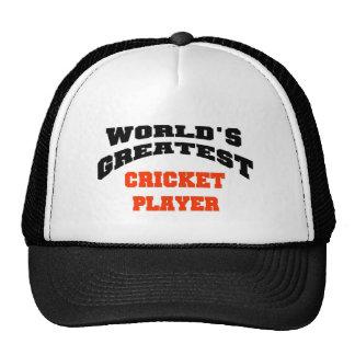 Cricket player hats