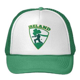 cricket player Irish shamrock Ireland shield Mesh Hats