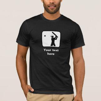 Cricket Player Logo -- Customizable (Dark) T-Shirt