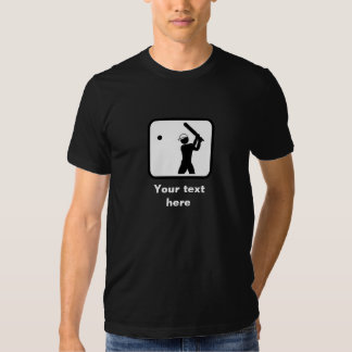 Cricket Player Logo -- Customizable (Dark) Tshirts