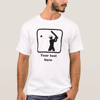 Cricket Player Logo -- Customizable T-Shirt