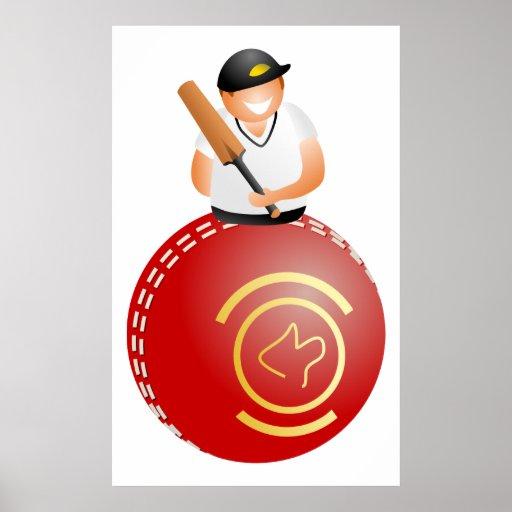 Cricket Player Print