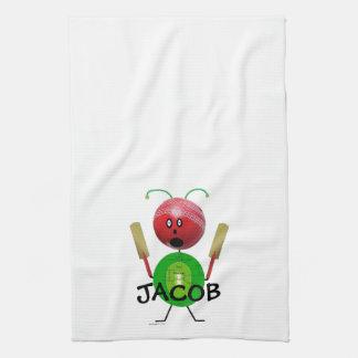 Cricket Player Tea Towel