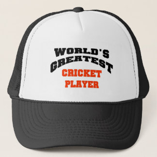 Cricket player trucker hat