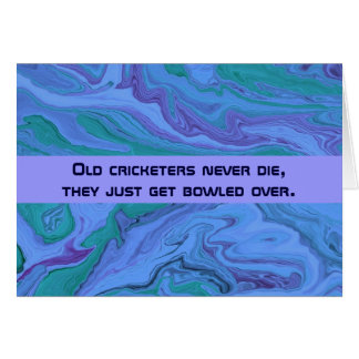 cricket players humor card