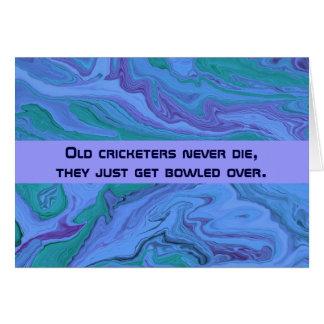 cricket players humor greeting card