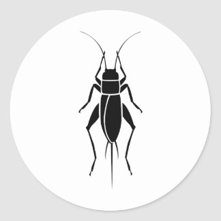 Cricket Round Sticker