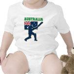 cricket sports batsman Australia flag Bodysuits