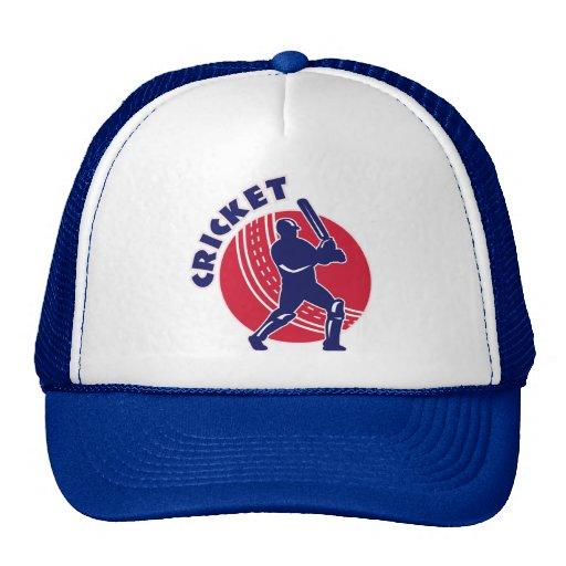 cricket sports batsman batting trucker hat