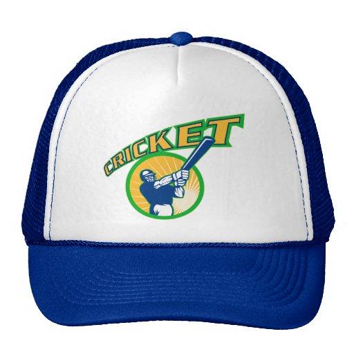 cricket sports batsman batting hat