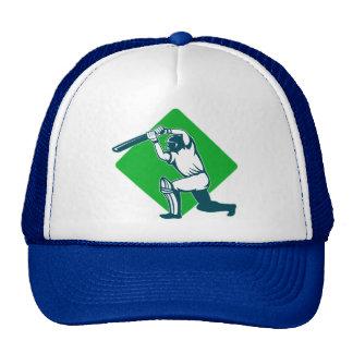 cricket sports batsman batting side view trucker hats