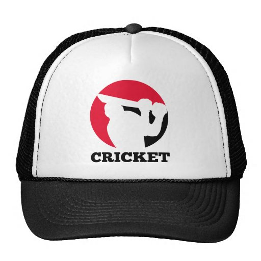 cricket sports batsman batting silhouette hat