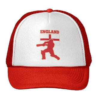cricket sports batsman England flag Trucker Hat