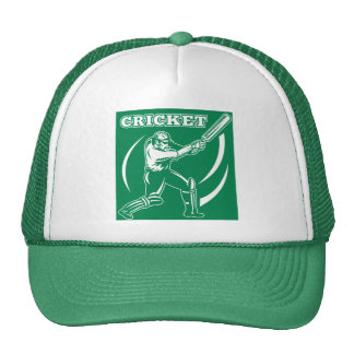 cricket sports player batsman batting side trucker hats