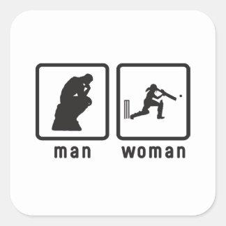 Cricket Square Sticker