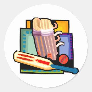 Cricket Round Stickers