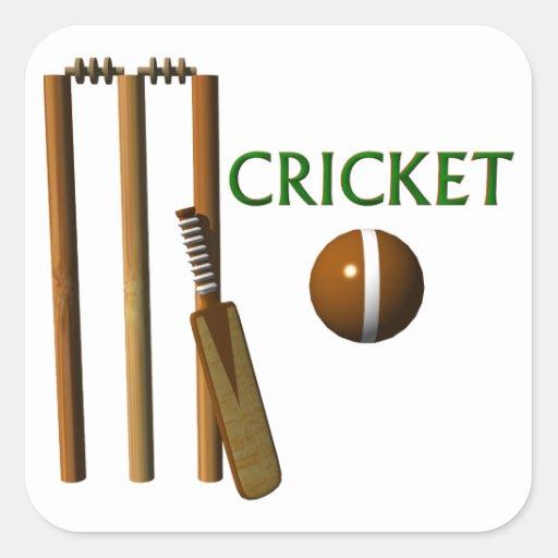 Cricket Square Stickers