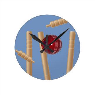 Cricket_Stumps,_ Round Clock