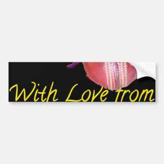 Cricket team with love from my heart bumper sticker