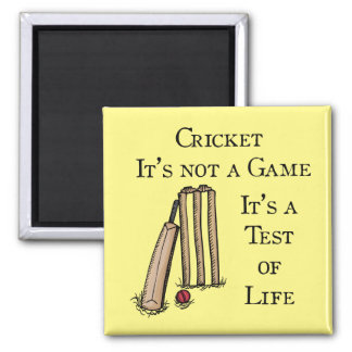 Cricket Test Fridge Magnet
