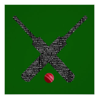 cricket typography poster