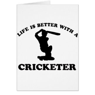 Cricket Vector Designs Card