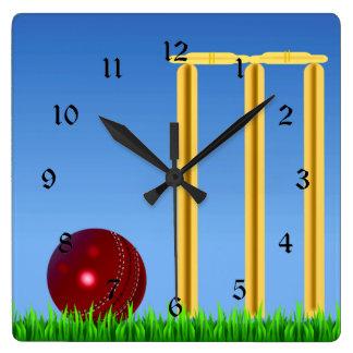 Cricket, wicket and ball wallclocks