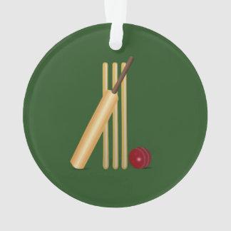 Cricket - Wicket, bat and ball