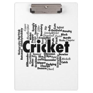 Cricket Word Cloud Clipboard