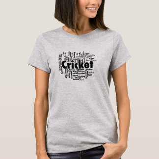 Cricket Word Cloud T-Shirt