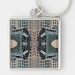 CricketDiane Art and Design - Extreme Designs NYC Silver-Colored Square Key Ring