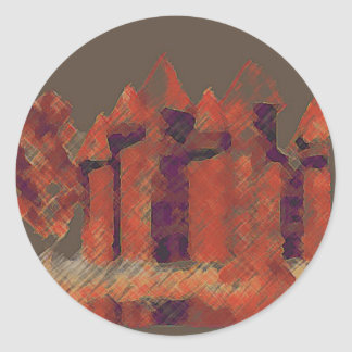 CricketDiane Castles Art Stickers Round Sticker
